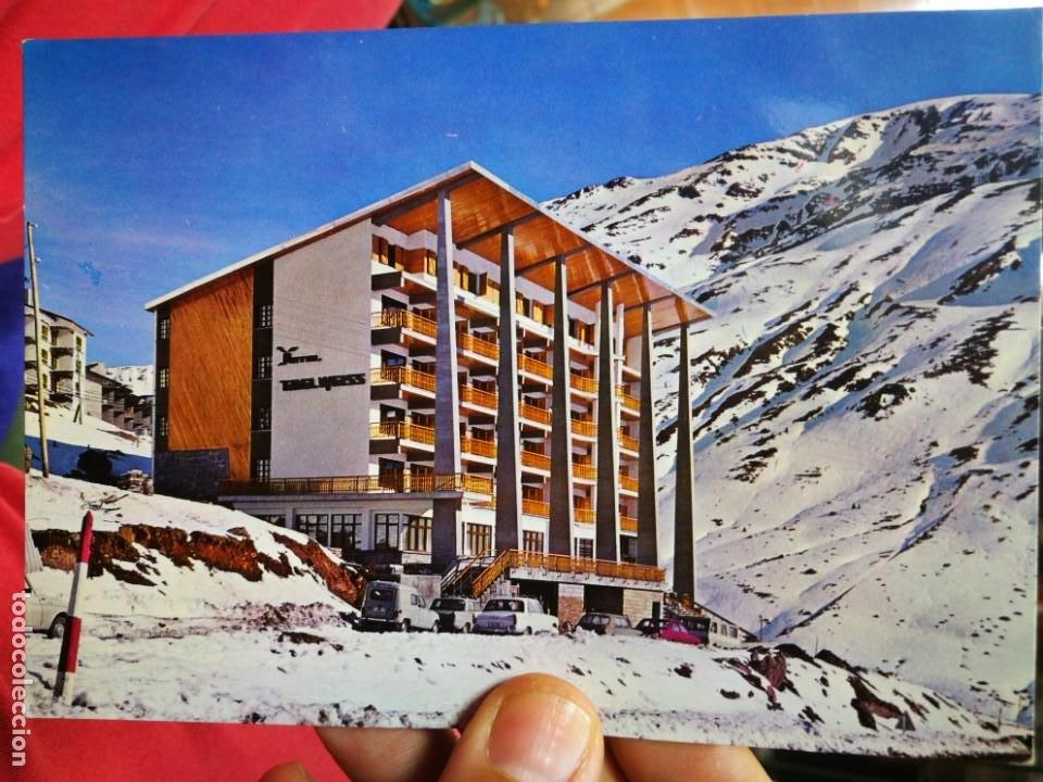POSTAL HOTEL EDELWEISS ESTACIÓN INVERNAL CANDANCHU HUESCA SICILIA S/C (Postales - Postales Temáticas - Hoteles y Balnearios)