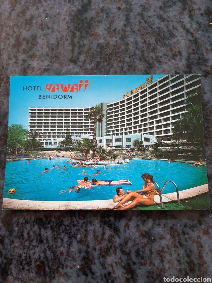 1984 HITEL GAWAII BENIDORM ALICANTE MATASELLO EDICIONES POSTALES GALIANA (Postales - Postales Temáticas - Hoteles y Balnearios)
