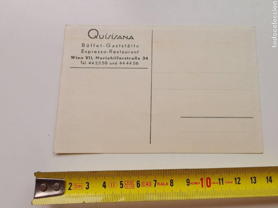 Postales: Postal del Restaurante Quisisana de Viena Austria. Osterreich. 1950s 1960s - Foto 4 - 206946190