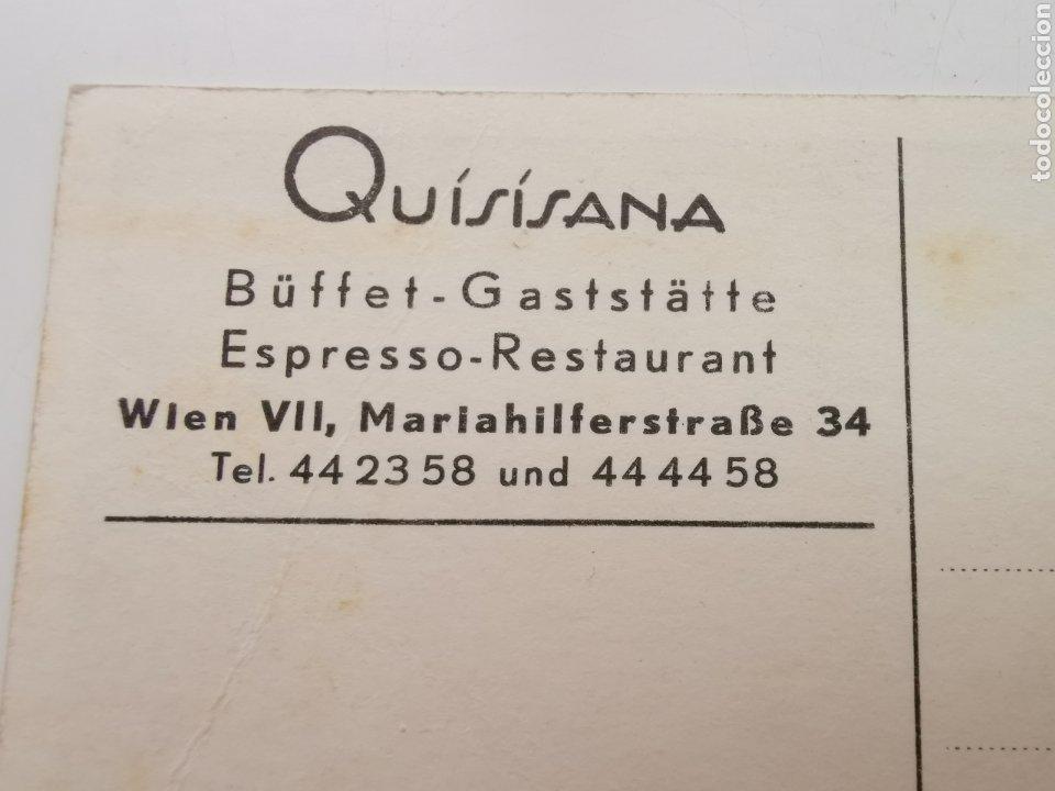 Postales: Postal del Restaurante Quisisana de Viena Austria. Osterreich. 1950s 1960s - Foto 5 - 206946190
