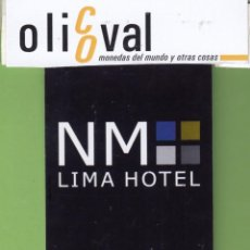 Postales: TARJETA HOTEL PERÚ LIMA HOTEL LIMA TH0018. Lote 207328050