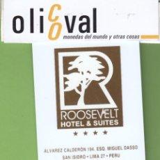 Postales: TARJETA HOTEL PERU LIMS SAN ISIDRO HOTEL ROOSEVELT TH0058. Lote 207331792