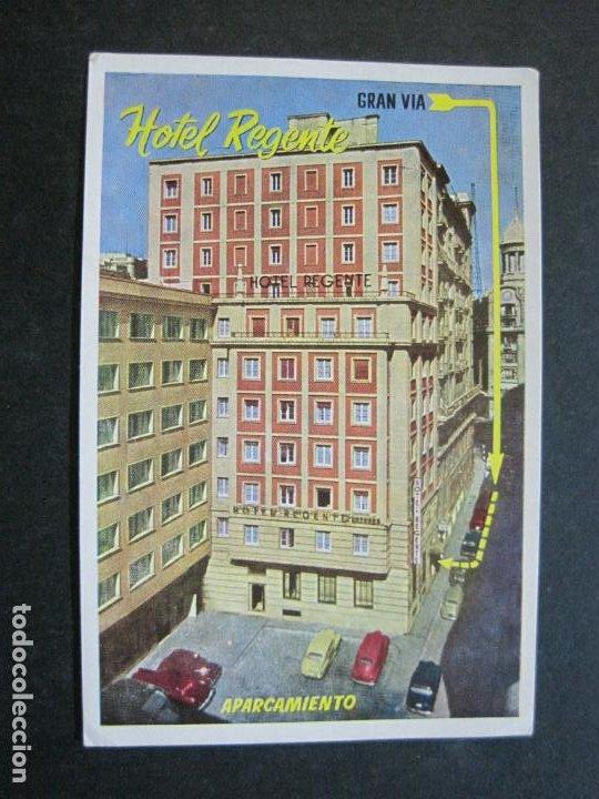 Postales: MADRID-HOTEL REGENTE-EDICIONES MORAN-POSTAL PUBLICIDAD ANTIGUA-(71.885) - Foto 2 - 209209572