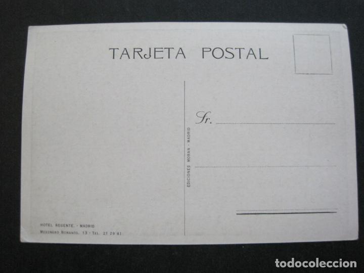 Postales: MADRID-HOTEL REGENTE-EDICIONES MORAN-POSTAL PUBLICIDAD ANTIGUA-(71.885) - Foto 3 - 209209572
