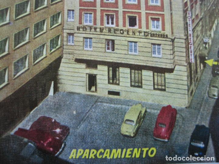 MADRID-HOTEL REGENTE-EDICIONES MORAN-POSTAL PUBLICIDAD ANTIGUA-(71.885) (Postales - Postales Temáticas - Hoteles y Balnearios)