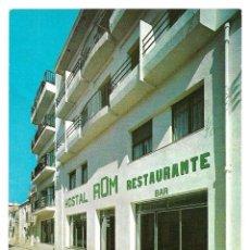 Postales: HOSTAL ROM EN ROSAS (COSTA BRAVA).POSTAL SIN ESCRIBIR.. Lote 209941788