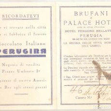 Postales: BRUFANI & PALACE HOTEL. PERUGIA. ITALIA..ANTIGUA. . VELL I BELL. Lote 210422552