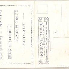Postales: RISTORANTE OLIVO. GENOVA.. ITALIA..ANTIGUA. . VELL I BELL. Lote 210422617