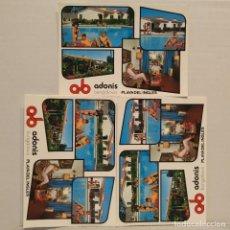 Postales: ADONIS BUNGALOWS, PLAYA DEL INGLÉS, GRAN CANARIA, LOTE DE 3 POSTALES, MANUEL BRITO AUYANET. Lote 210541648