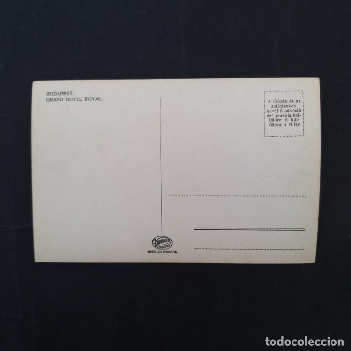 Postales: POSTAL FOTOGRAFIA GRAND HOTEL ROYAL BUDAPEST (P4) - Foto 2 - 212781711