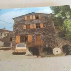 Postales: HOSTAL EL MOLI. BAR RESTAURANTE CUINA TÍPICA CATALANA. SETCASES GIRONA. SIN CIRCULAR. Lote 221379871