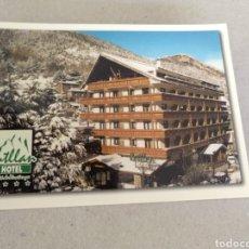 Postales: HOTEL RITLLAN. CHALET DE MUNTANYA. LA MASSANA PRINCIPAL DE ANDORRA. SIN CIRCULAR. Lote 221379996