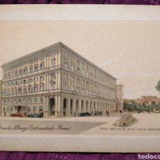 Postales: GRANDE ALBERGO CONTINENTALES ROMA. Lote 221849555