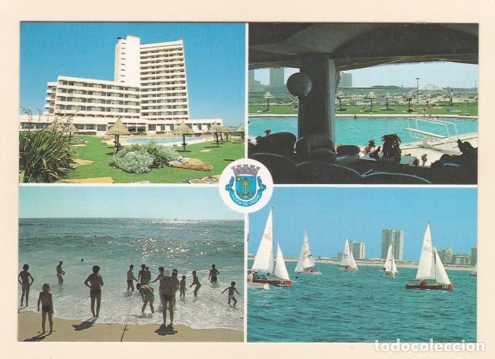 POSTAL HOTEL VERMAR D. PEDRO, PISCINA, PLAYA Y REGATA. POVOA DE VARZIM (PORTUGAL) (Postales - Postales Temáticas - Hoteles y Balnearios)