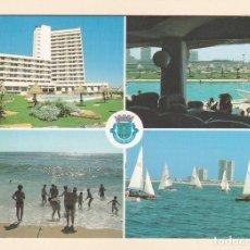 Postales: POSTAL HOTEL VERMAR D. PEDRO, PISCINA, PLAYA Y REGATA. POVOA DE VARZIM (PORTUGAL). Lote 222156678