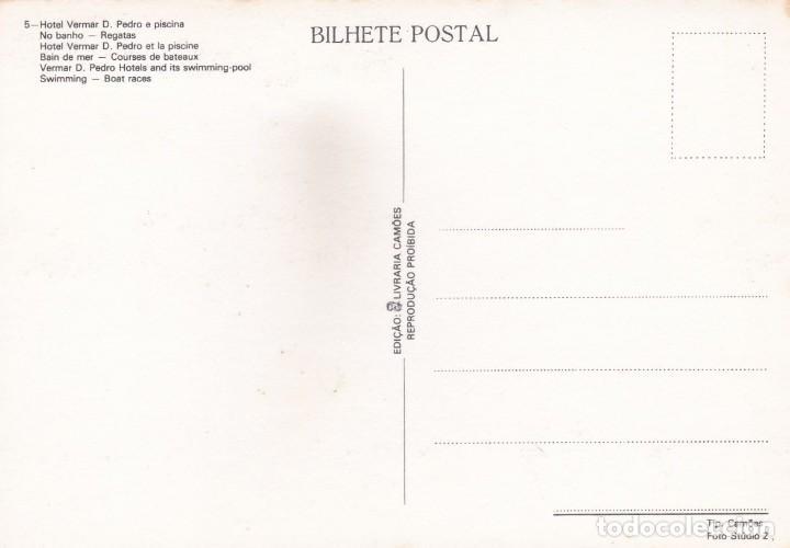 Postales: POSTAL HOTEL VERMAR D. PEDRO, PISCINA, PLAYA Y REGATA. POVOA DE VARZIM (PORTUGAL) - Foto 2 - 222156678