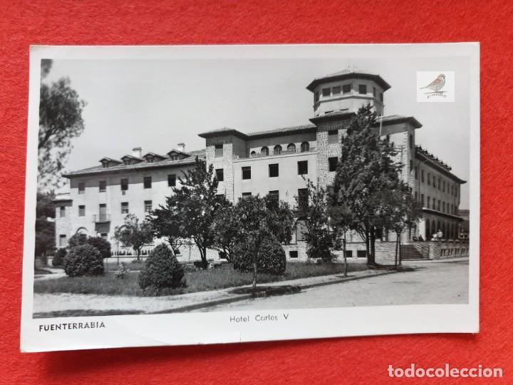 FUENTERRABIA - HONDARRIBIA GUIPÚZCOA POSTAL ANTIGUA ORIGINAL HOTEL CARLOS V (Postales - Postales Temáticas - Hoteles y Balnearios)