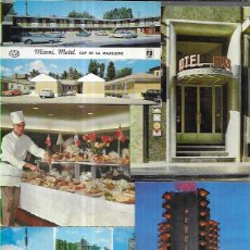 Postales: 90 POSTALES * HOTELES , PARADORES, RESTAURANTES, CAMPÌNGS,ETC * LOTE Nº 121. Lote 228003750