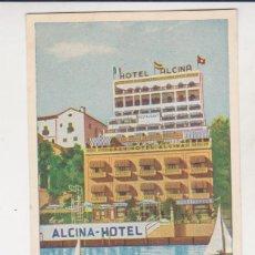 Postales: POSTAL PUBLICITARIA HOTEL ALCINA PALMA DE MALLORCA. Lote 230024535