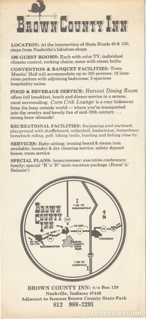Postales: HOTEL COUNTRY INN NASHVILE,INDIANA. FORMATO APAISADO - Foto 2 - 232072780