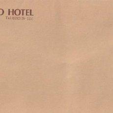 Postales: SOBRE CORTESIA TSU MIYAKO HOTEL JAPON 1995. Lote 232382010