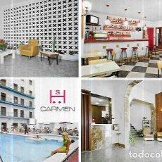 Cartes Postales: POSTAL * CALELLA DE MAR ,HOTEL CARMEN * 1970. Lote 243604140