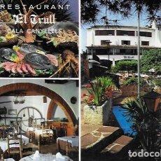 Postales: POSTAL * LLORET DE MAR , RESTAURANTE HOTAL EL TRULL * 1985. Lote 243844735