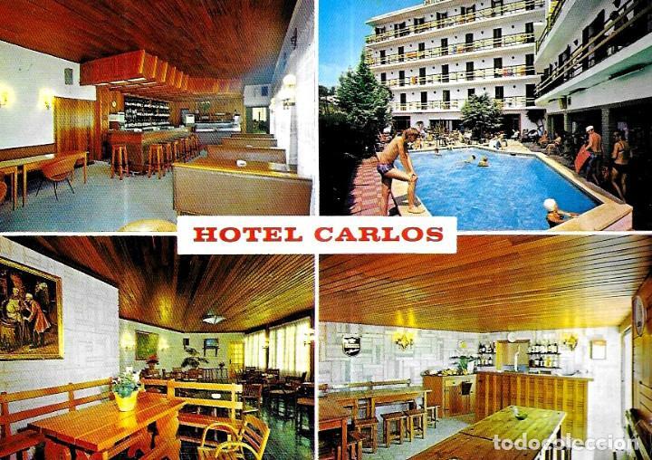 POSTAL * CANET DE MAR , HOTEL CARLOS * 1975 (Postales - Postales Temáticas - Hoteles y Balnearios)