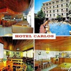 Postales: POSTAL * CANET DE MAR , HOTEL CARLOS * 1975. Lote 243851235