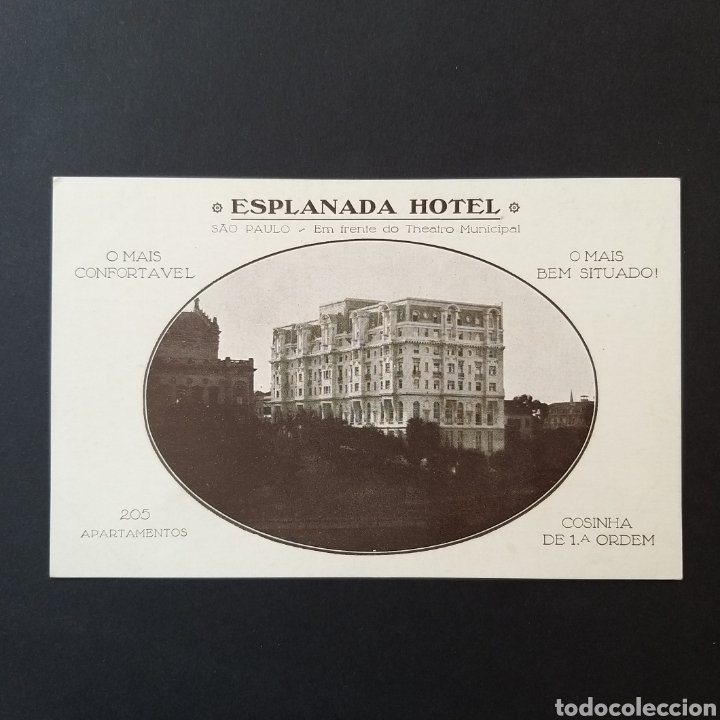POSTAL ANTIGUA BRASIL SAO PAULO ESPLANADA HOTEL BR002 (Postales - Postales Temáticas - Hoteles y Balnearios)