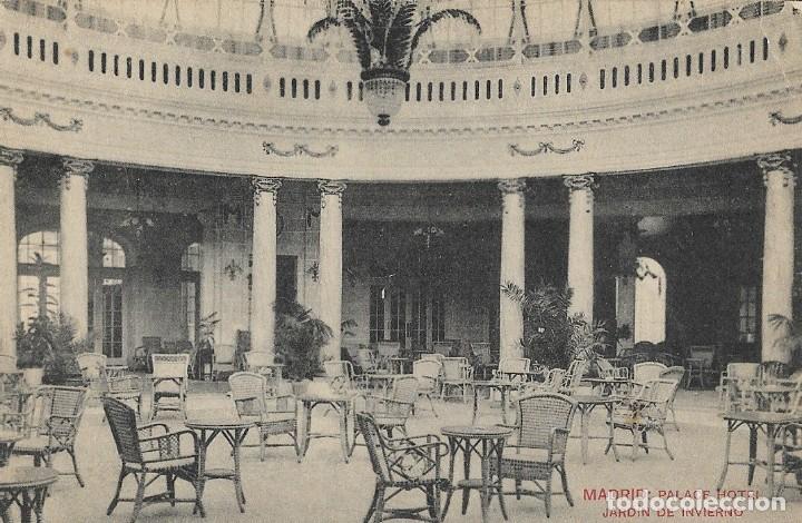 PALACE HOTEL, JARDIN DE INVIERNO. MADRID (Postales - Postales Temáticas - Hoteles y Balnearios)