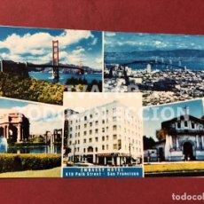 Postales: POSTAL EMBASSY HOTEL, SAN FRANCISCO, ESTADOS UNIDOS, CON VISTAS DE LA CIUDAD, AÑOS 90. Lote 247433575