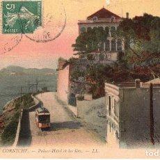 Postales: 122 LA CORNICHE - PALACE HOTEL ET LES ILES - CIRCULADA 1903 - CON SELLOS - FRANCIA. Lote 251055920