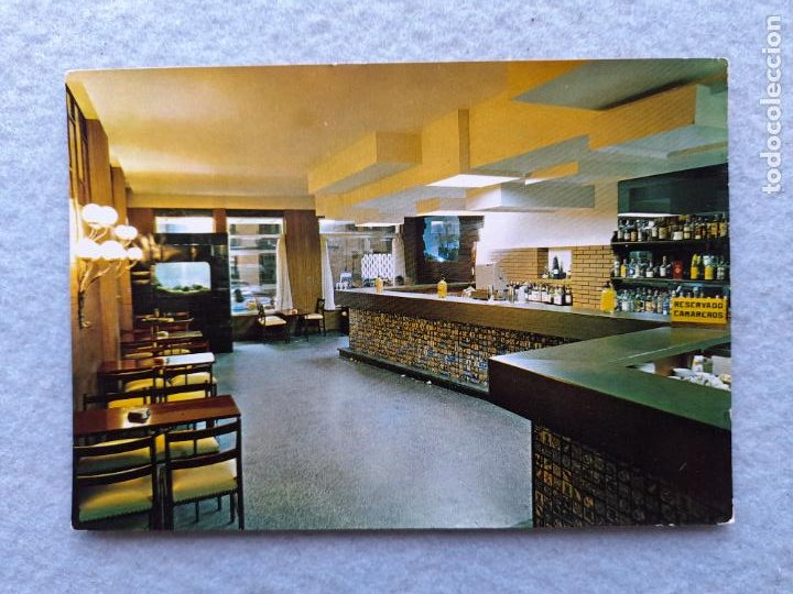 CABAÑAS. PUENTEDEUME. HOTEL SARGA. CAFETERÍA. (Postales - Postales Temáticas - Hoteles y Balnearios)