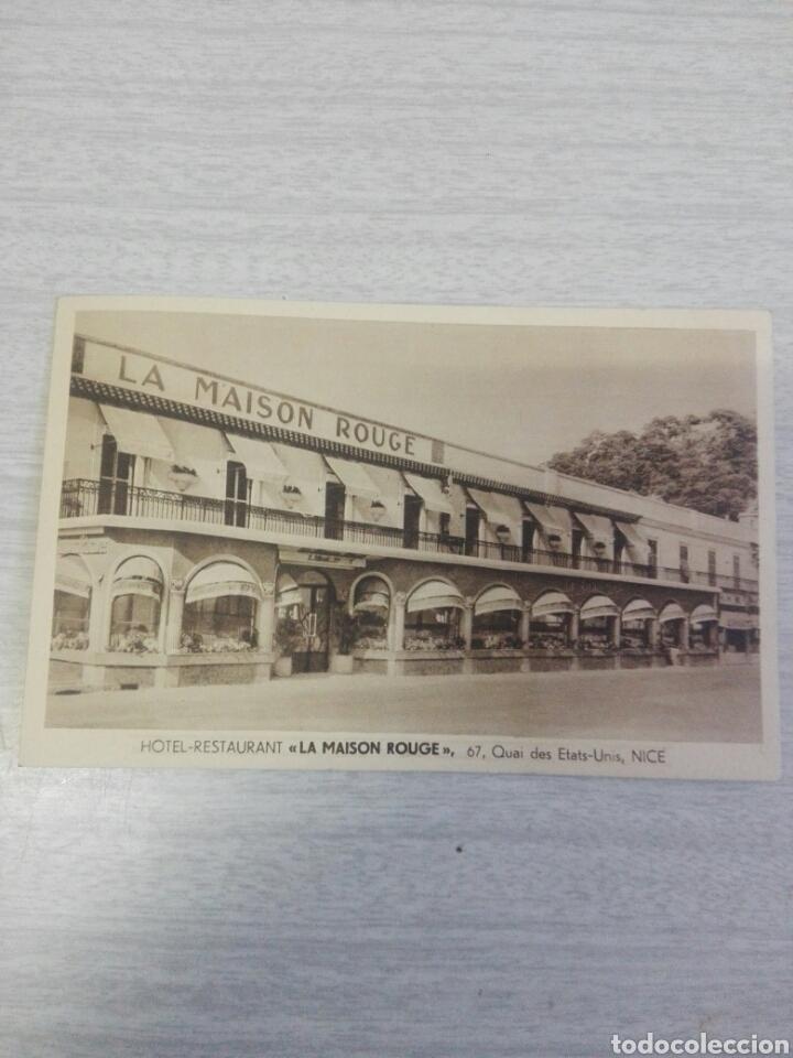 POSTAL HOTEL RESTAURANT LA MAISON ROUGE (Postales - Postales Temáticas - Hoteles y Balnearios)