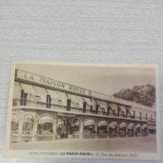 Postales: POSTAL HOTEL RESTAURANT LA MAISON ROUGE. Lote 254256545