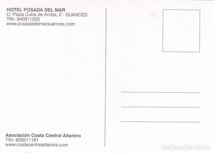 Postales: POSTAL HOTEL POSADA DEL MAR. SUANCES (ASTURIAS) - Foto 2 - 254285565