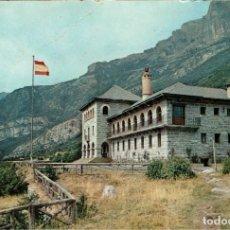 Postales: PIRINEOS CENTRALES - PARADOR DE ORDESA - CIRCULADA EN 1962 - SELLO 1 PESETA IV CENTENARIO REFORMA. Lote 254618765
