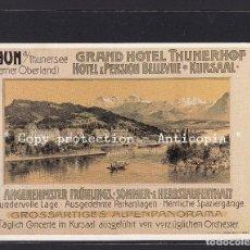 Postales: POSTAL DE SUIZA - ANTON RECKZIEGEL PLAKAT FÜR GRAND HOTEL THUNERHOF - BELLEVUE UND KURSAAL 1905. Lote 254961530