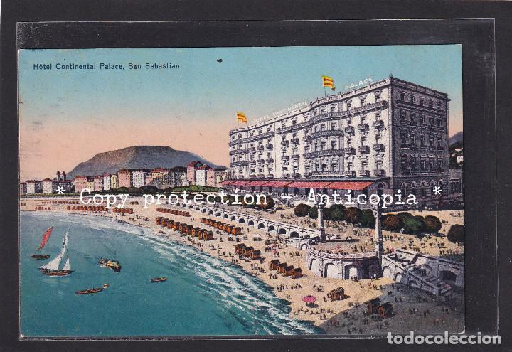 POSTAL DE ESPAÑA - HOTEL CONTINENTAL PALACE, SAN SEBASTIÁN (ESPAÑA) (Postales - Postales Temáticas - Hoteles y Balnearios)