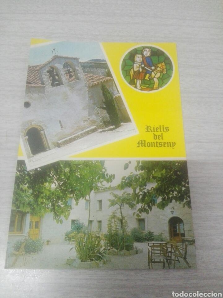 POSTAL RIELLS DEL MONTSENY HOSTAL BELL-LLOCH (Postales - Postales Temáticas - Hoteles y Balnearios)