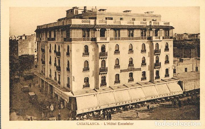 CASABLANCA (MARRUECOS), HOTEL EXCELSIOR (Postales - Postales Temáticas - Hoteles y Balnearios)