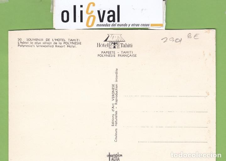 Postales: TARJETA HOTEL TAHITI POLYNESIE FRANCAIE TPH 2901 - Foto 2 - 257318645