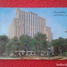 Postales: POST CARD CARTE POSTALE THE LAURENTIEN MONTREAL CANADÁ A SHERATON HOTEL CIRCULADA DE CANADÁ A USA.... Lote 259985735