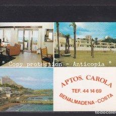 Postales: POSTAL DE ESPAÑA - APARTAMENTOS CAROLA BENALMADENA - COSTA (MÁLAGA). Lote 261939360