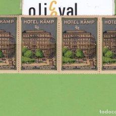 Postales: ETIQUETA HOTEL KÄMP FINLANDIA 52X35 MM EH3241. Lote 261990540