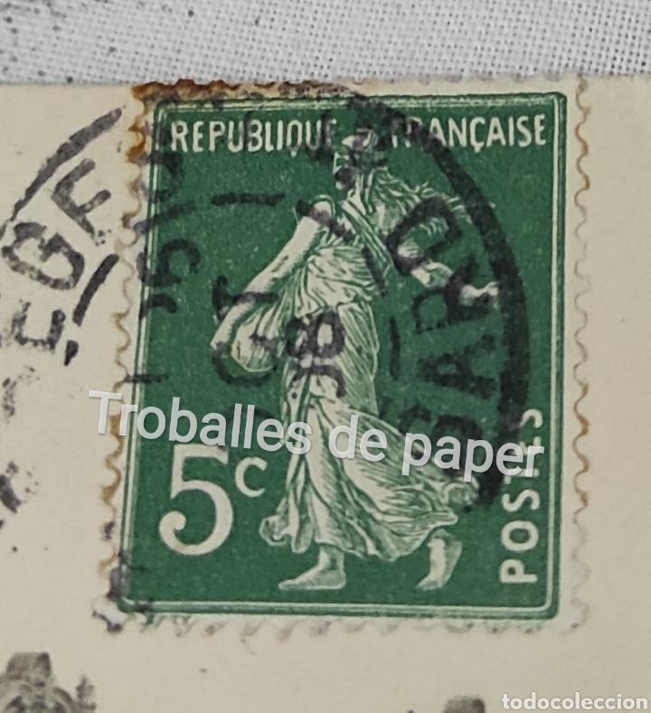 Postales: Gran Hotel continental Barcelona. Postal francesa. Circulada 1908. Segell 5c República - Foto 3 - 262491795
