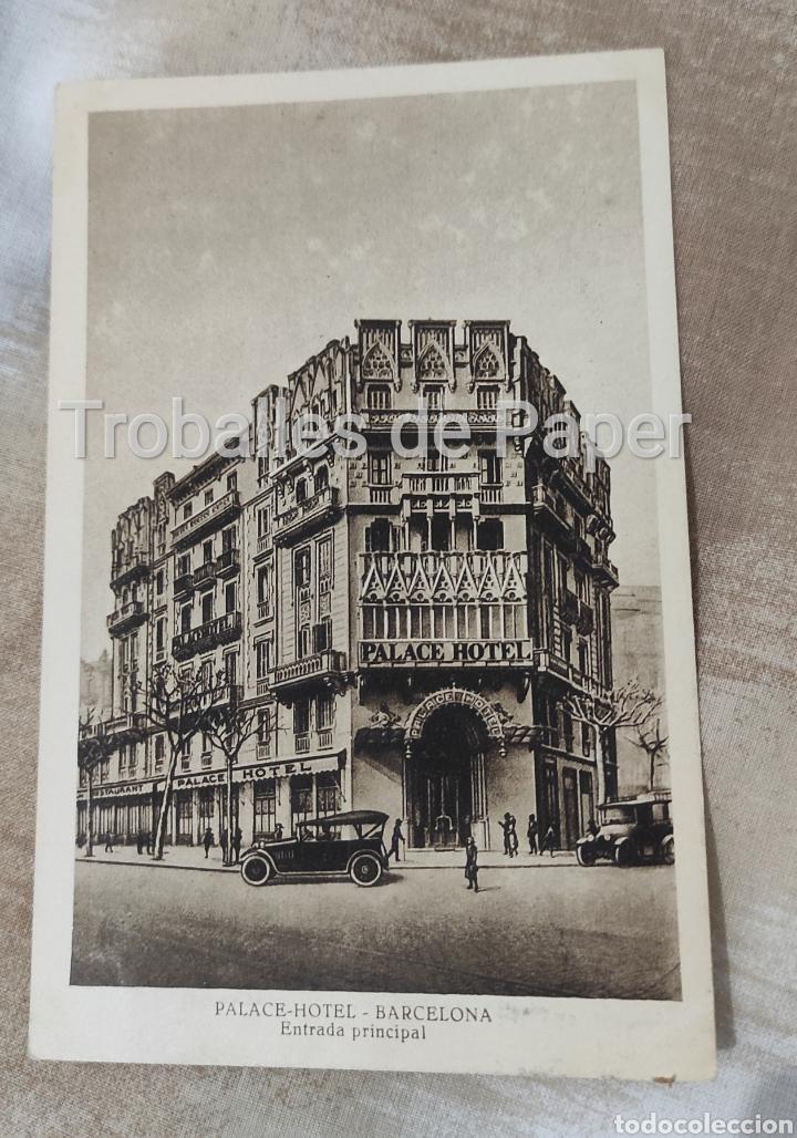 PALACE HOTEL BARCELONA ENTRADA PRINCIPAL. ROISIN FOTOGRAFO (Postales - Postales Temáticas - Hoteles y Balnearios)