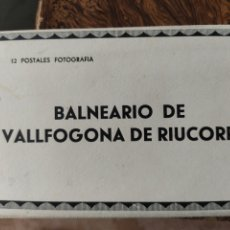 Postales: POSTAL TARRAGONA BALNEARIO VALLFOGONA DE RIUCORP 12 POSTALES COMPLETO. Lote 269383703