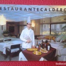 Postales: POST CARD RESTAURANTE HOTEL CALDERÓN CHEF RESTAURACIÓN, RAMBLA CATALUÑA, BARCELONA, COCINERO ETC VER. Lote 271004148